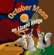 October Moon On Lizard Ridge